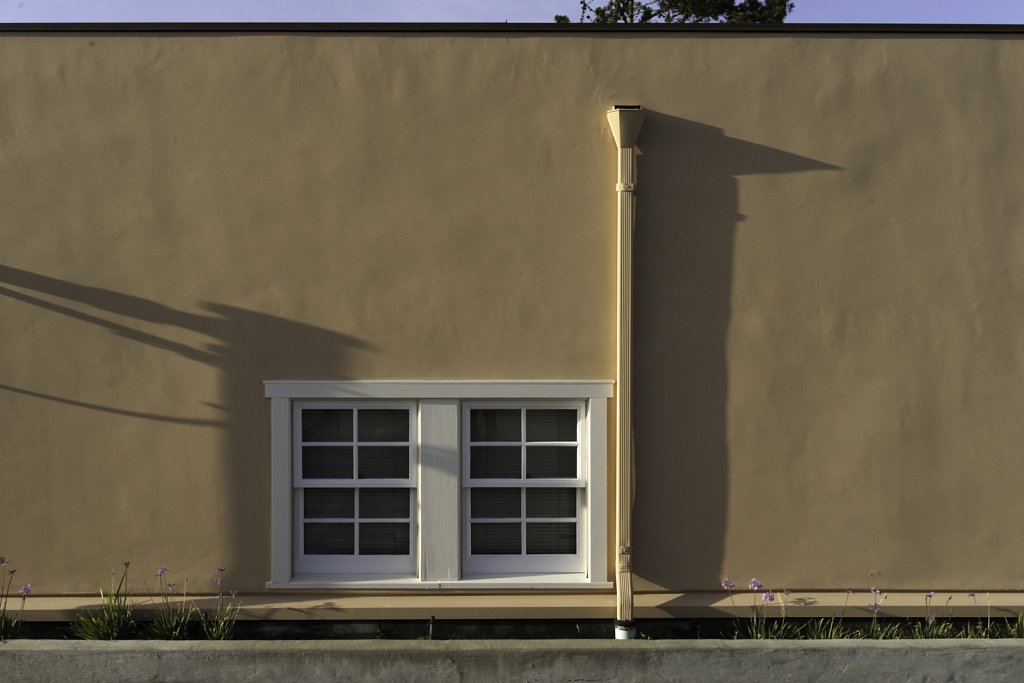 Beige Wall with White Window